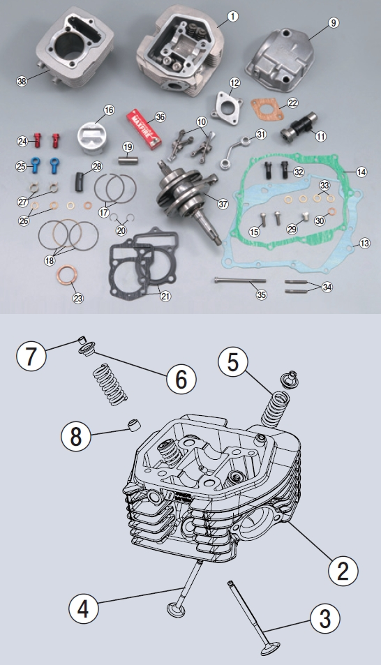 【DAYTONA】【4V-OHC汽缸頭用】汽缸墊片組 - 「Webike-摩托百貨」