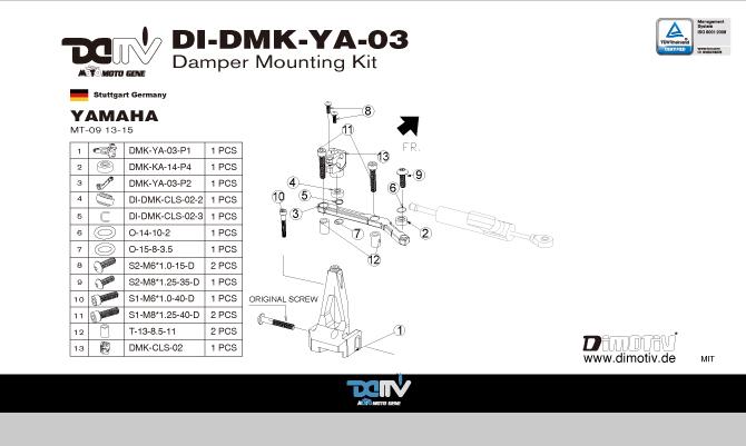 Aide pour montage amortissuer de direction HYPERPRO DI-DMK-YA-03-A-03a_1_