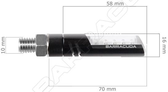 【BARRACUDA】IDEA e-marked LED 方向燈 - 「Webike-摩托百貨」