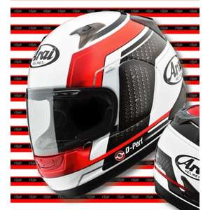 Arai ASTRO IQ TEAM (White/Red) Helmet
