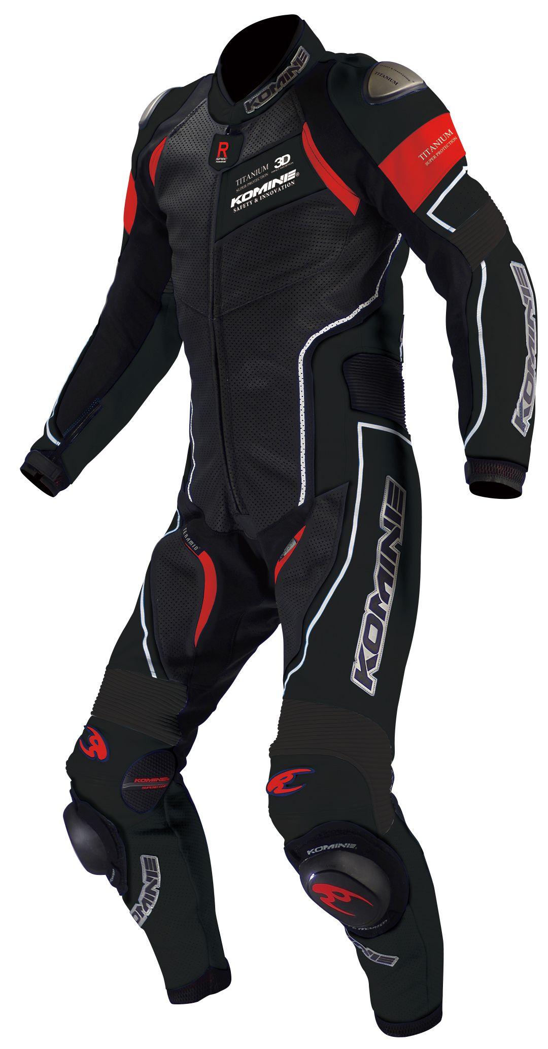 KOMINE S-49 Titanium Leather Suit-Raphael