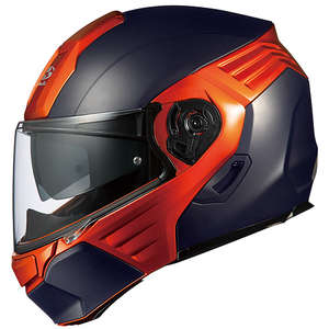 OGK KAZAMI Flat Black/Orange Helmet