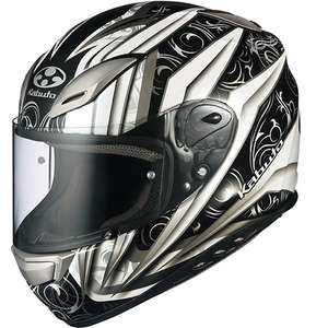 OGK [Closeout Item] AEROBLADE-III ROVENTE [White/Silver] Helmet [Special Price Item]