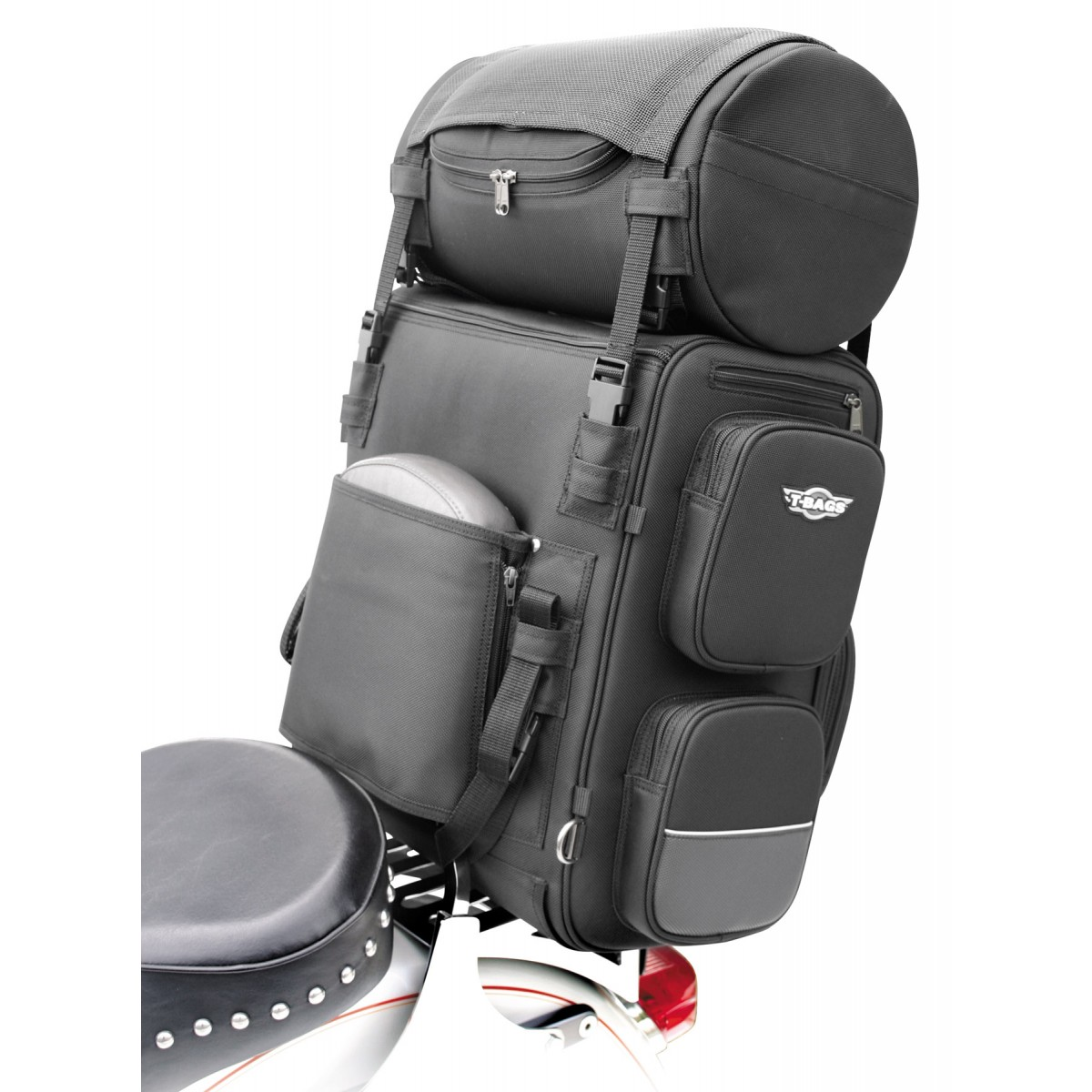 Canvas Motorcycle Sissy Bar Travel Bags