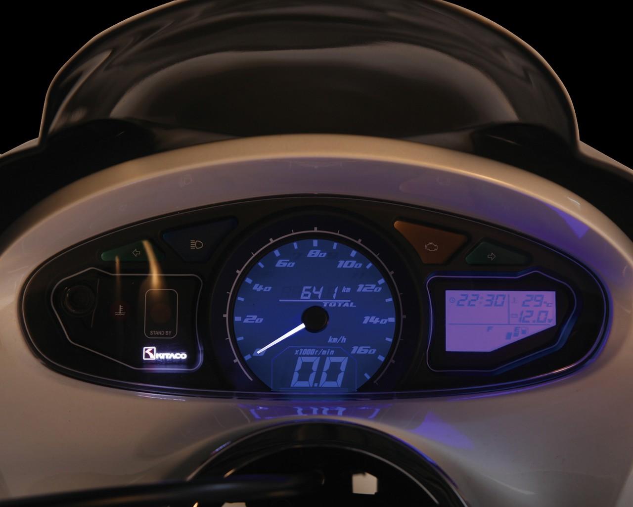per tutte le moto da 12 V Akozon Tachimetro universale 12 V DC LED 0 indicatore del livello dellolio contagiri digitale 160 km//h nero