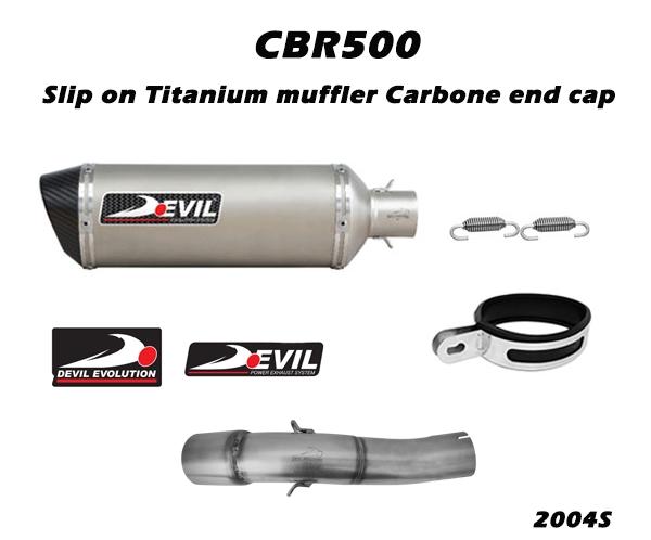 排氣管尾段 w/ 不銹鋼消音器 D5M