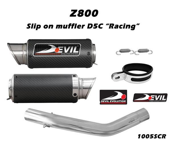 DEVIL EVOLUTION Slip-on w/ Carbon Muffler D2.1C
