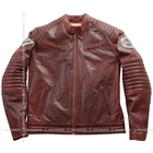 DEGNER Embroidery Entering Leather Jacket
