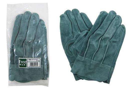 #CS-400 背接縫油牛二層皮手套
