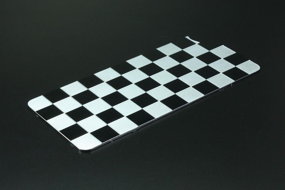GILD design Aluminum Panel Checkered Solid Bumper Correspondence for iPhone7