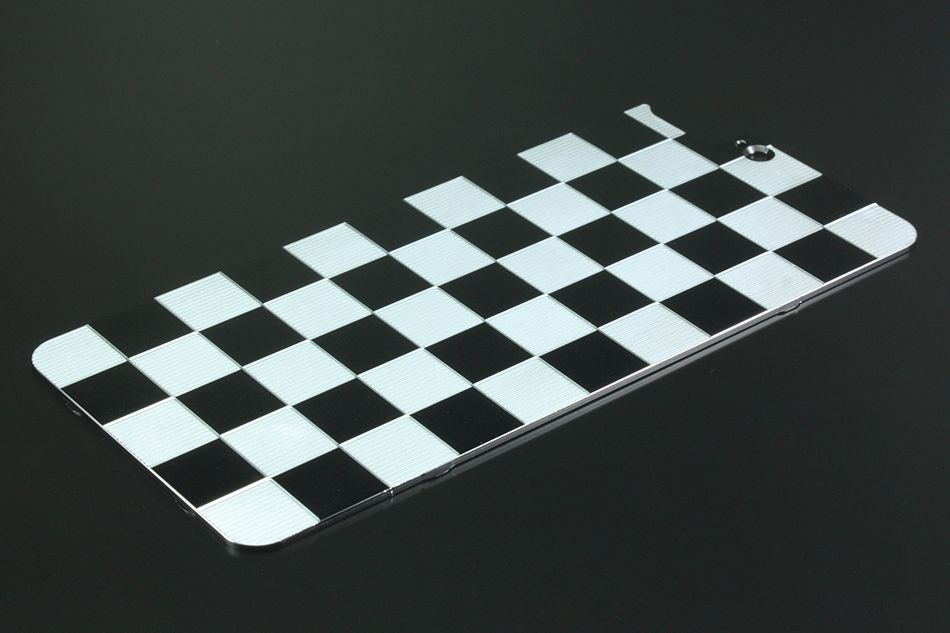 GILD design Aluminum Panel Checker Solid Bumper Correspondence for iPhone7Plus
