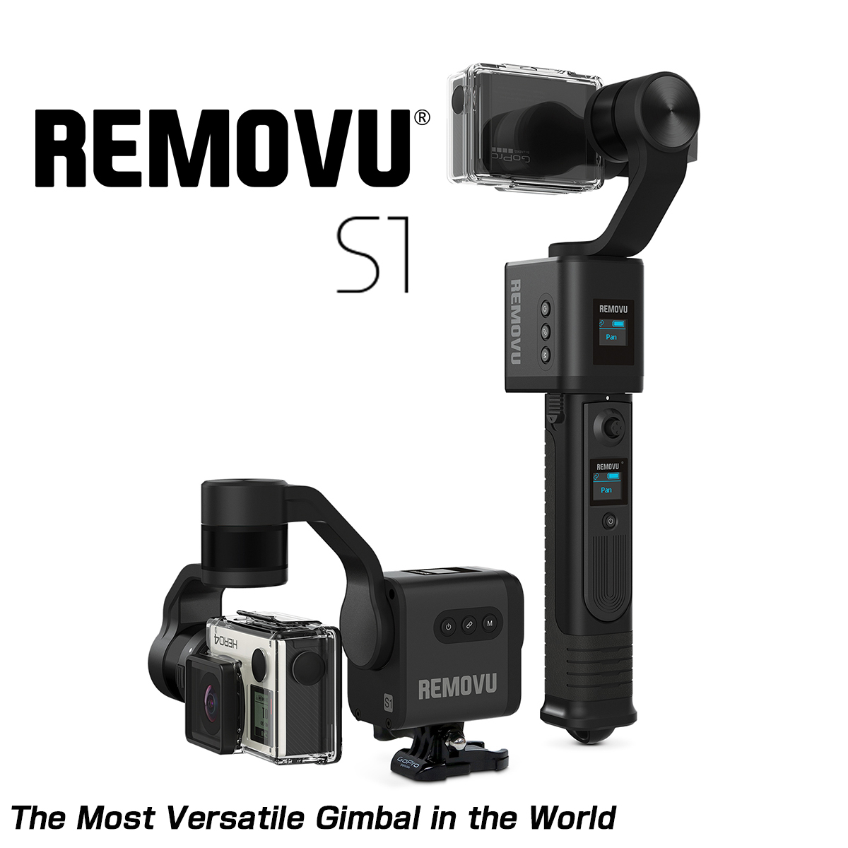 MOTOZEN REMOVU S1 Smart Gimbal for GoPro Camera/Sony Camera for HERO3, 3+/4/5/Session