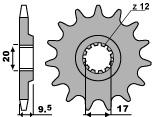 PBR 14齒鋼製前齒盤/ 420鏈條
