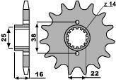 ACB 12齒鋼製前齒盤/ 520鏈條