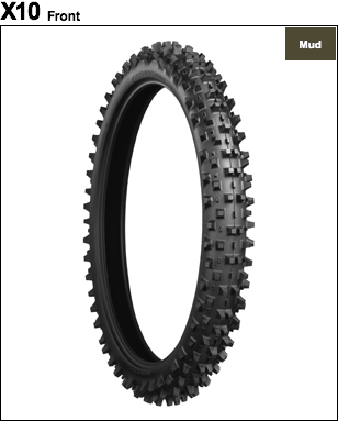BRIDGESTONE BATTLECROSS X10 [80 / 100-21 51M] ยาง