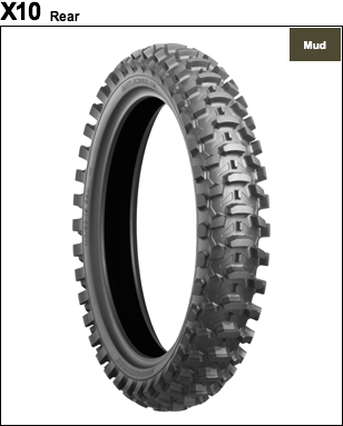 BRIDGESTONE BATTLECROSS X10 [110 / 90-19 52M] ยาง