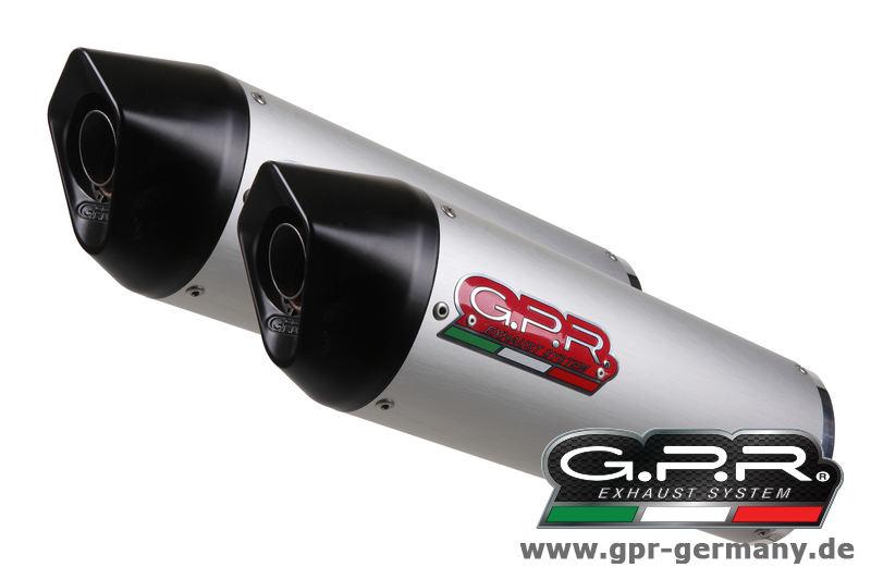 GPR FURORE ALU OVAL (SUZUKI HAYABUSA 1300 1999-06 BOLT ON DOUBLE MUFFLER EXHAUST)