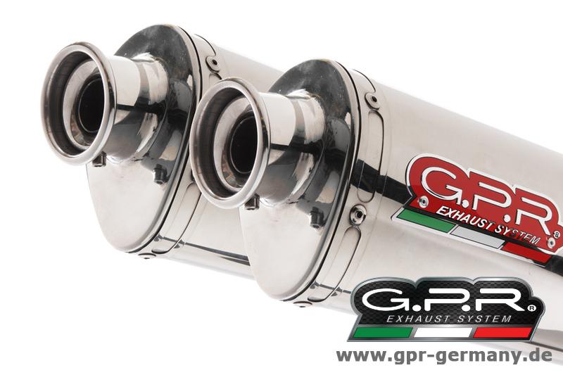 GPR GPR   TREVALE   STEEL   ( SUZUKI   GSX   1400   2003 - 06   SLIP   ON   DOUBLE   MUFFLER   EXHAUST )   Slip - on   Exhaust