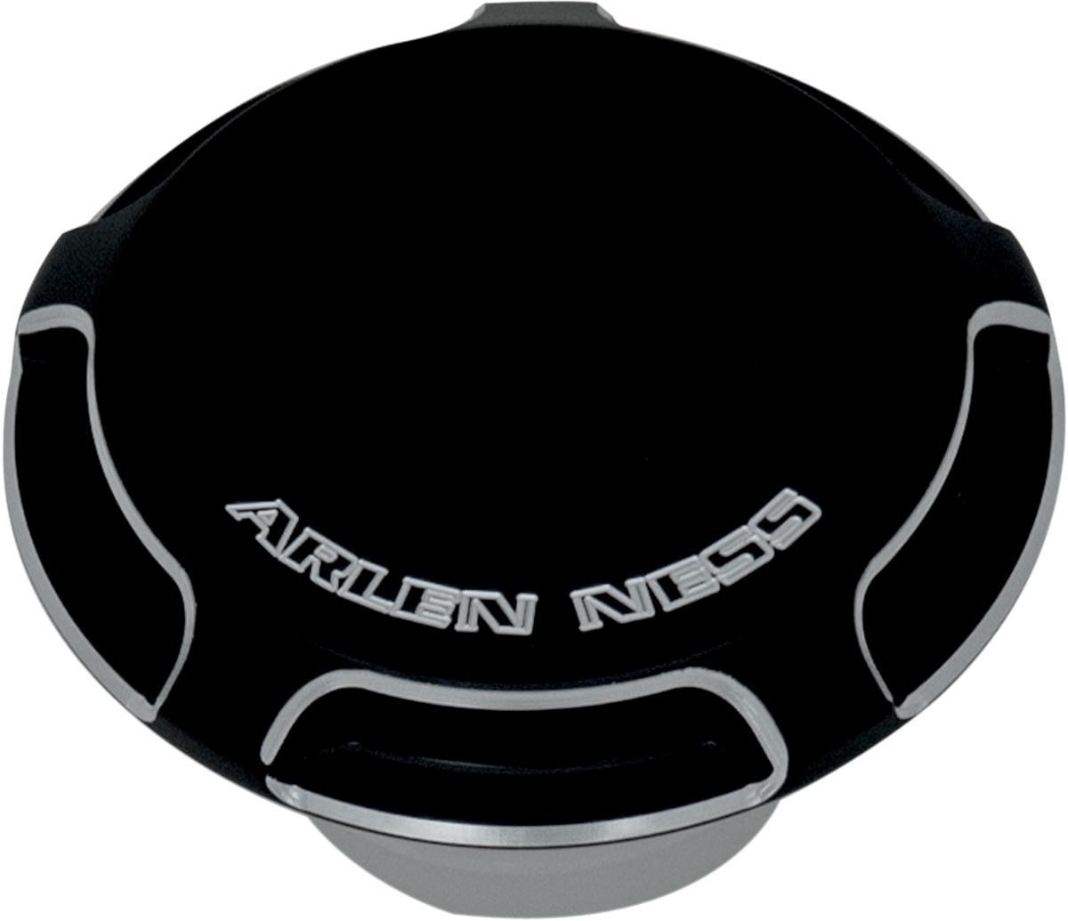 Arlen Ness 70-000 Black Billet Gas Cap//LED Fuel Gauge Cap