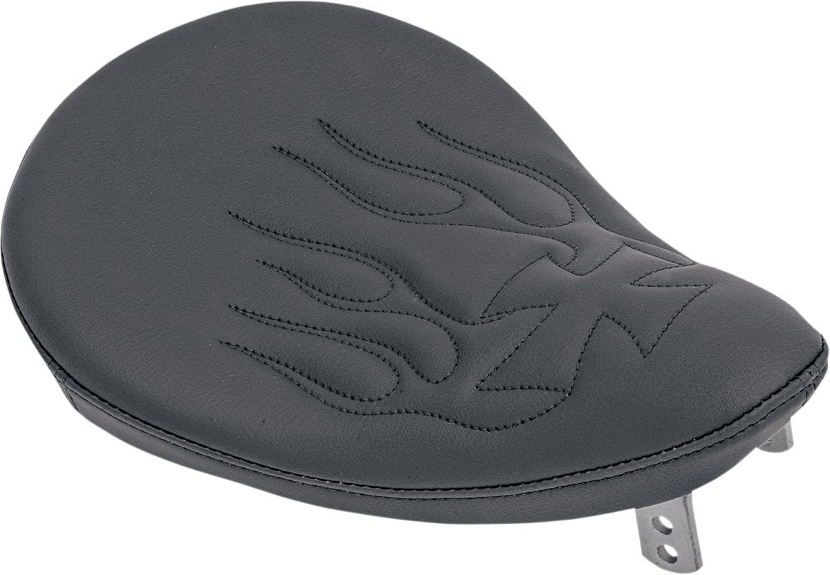 【Drag Specialties】單座坐墊/平滑 黑色 火焰/CROS 【SEAT,SM SOLO BLK FLM/CROS [0806-0010]】 - 「Webike-摩托百貨」