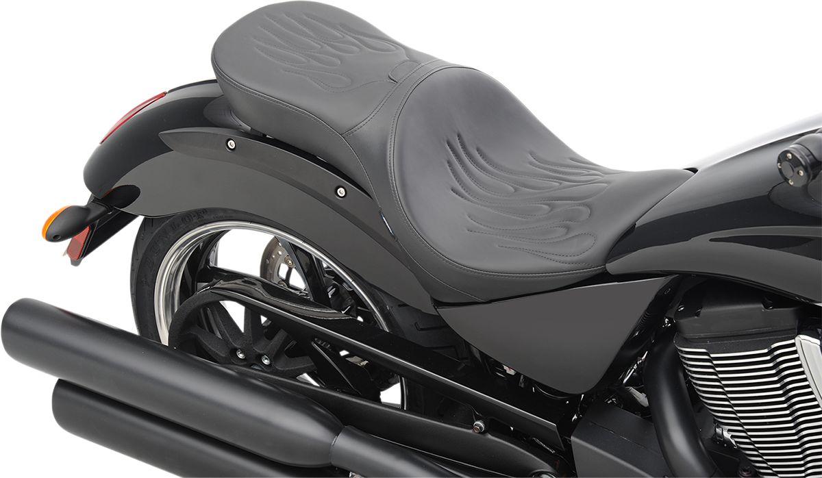 【Drag Specialties】坐墊/  LOW PROFILE DBR VEGAS 火焰 【SEAT LOPRODBR VEGAS FLM [0810-1608]】 - 「Webike-摩托百貨」