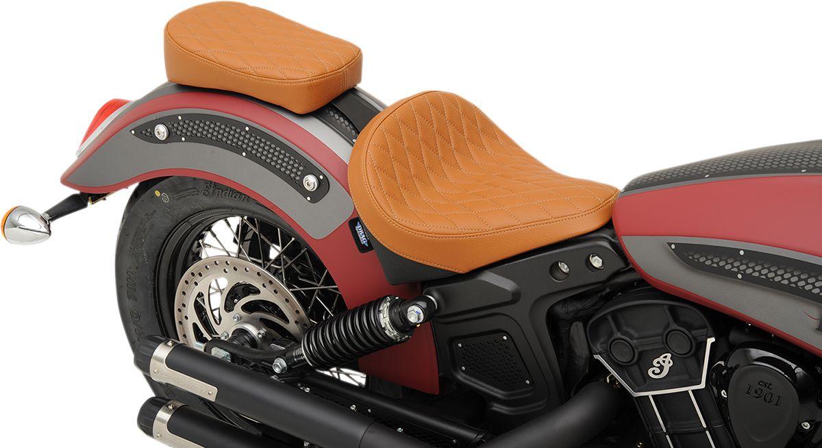 【Drag Specialties】單座坐墊/ 棕色 菱形 SCOUT 【SEAT SOLO BRN DIAM SCOUT [0810-1986]】 - 「Webike-摩托百貨」