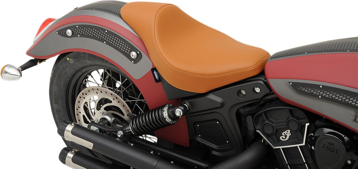【Drag Specialties】單座坐墊/ 延伸 棕色 MILD 【SEAT SOLO EXT BRN MILD [0810-2000]】 - 「Webike-摩托百貨」
