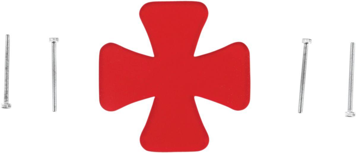 【Drag Specialties】尾燈燈殼/ CROSS 紅色 F/20100041 【LENS,CROSS RED F/20100041 [2010-0224]】 - 「Webike-摩托百貨」
