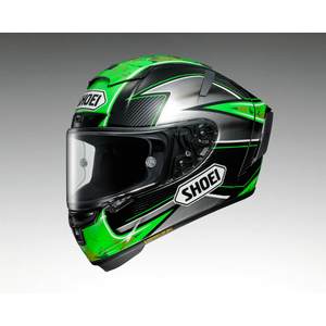 SHOEI X-14 LAVERTY [TC-4 Green/Black] Helmet