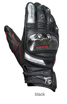 KOMINE GK-193 Protect Leather Mesh Gloves Green