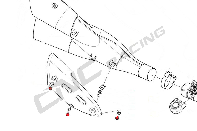 【CNC Racing】排氣管防燙蓋用螺絲 - 「Webike-摩托百貨」