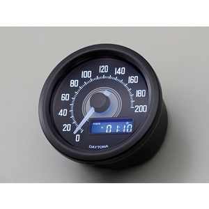 DAYTONA VELONA Speedometer 200km/h Display Black Body/ White LED