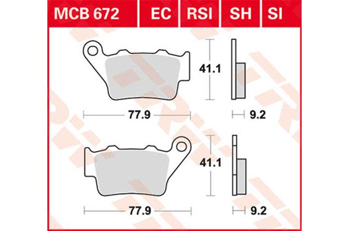 KTM EXC 300 Enduro 99-03 Front /& Rear Brake Pads Full Set 2 Pairs