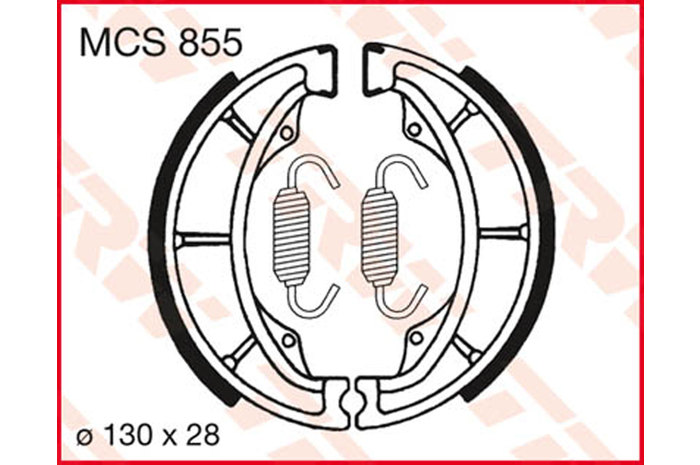TRW BRAKE-SHOES ORGANIC [MCS855]