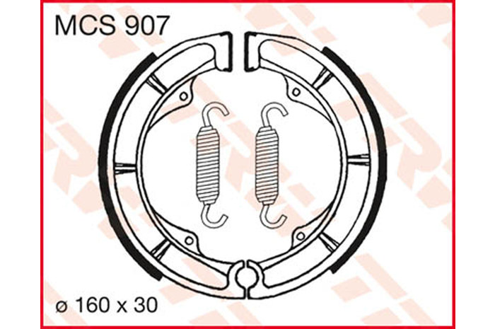 TRW BRAKE-SHOES ORGANIC [MCS907]