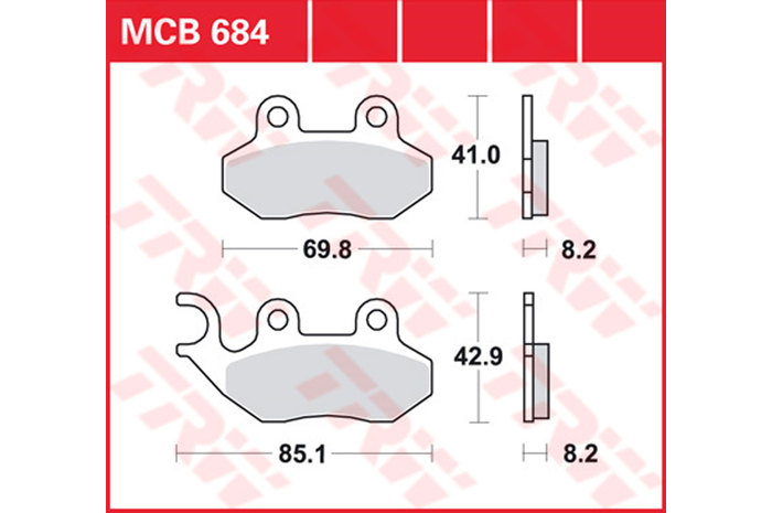 FIT SYM  Jet Sport X 50 SR 06/>15 EBC FRONT ORGANIC BRAKE PADS