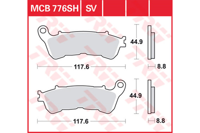 TRW BRAKE-PADS SINTER Scooters And Offroad [MCB776SRM]