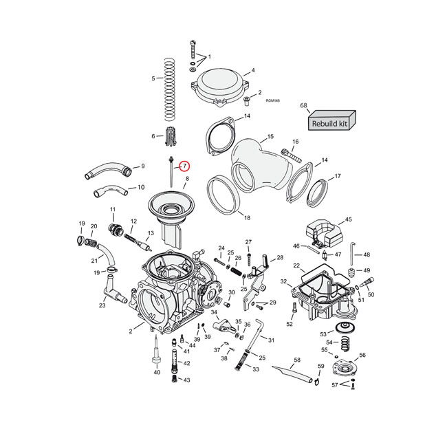 Motorcycle Carburetor Jet Parts