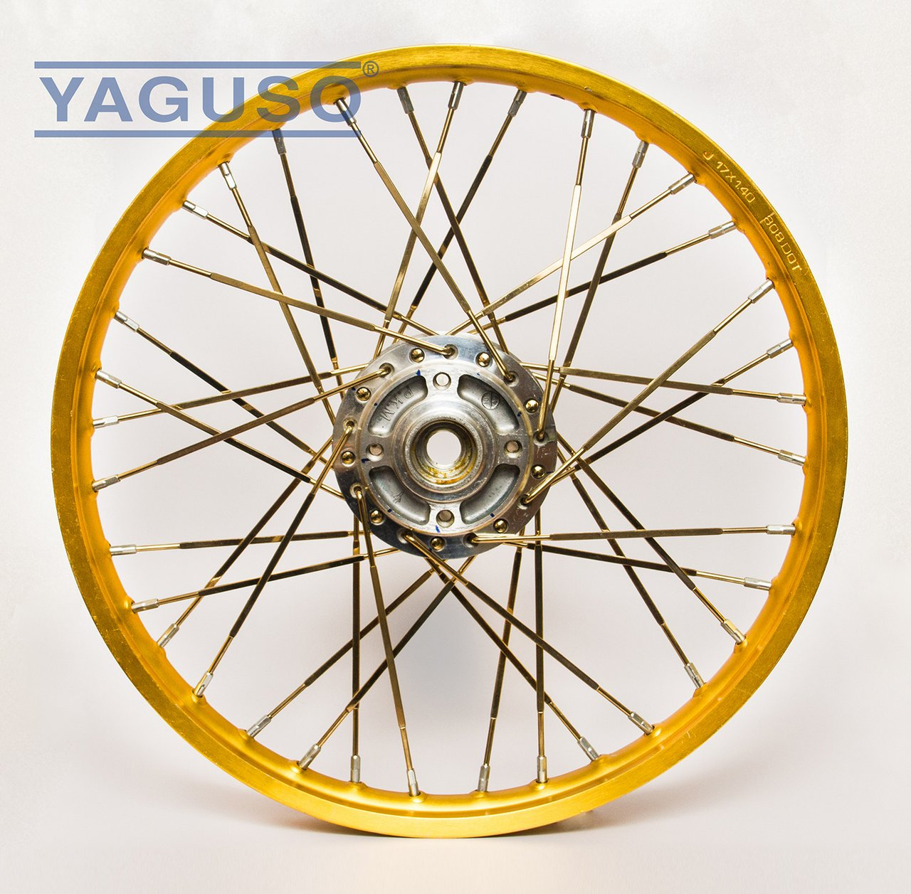 40 gold plated steel long nipples Harley spoke wire wheel