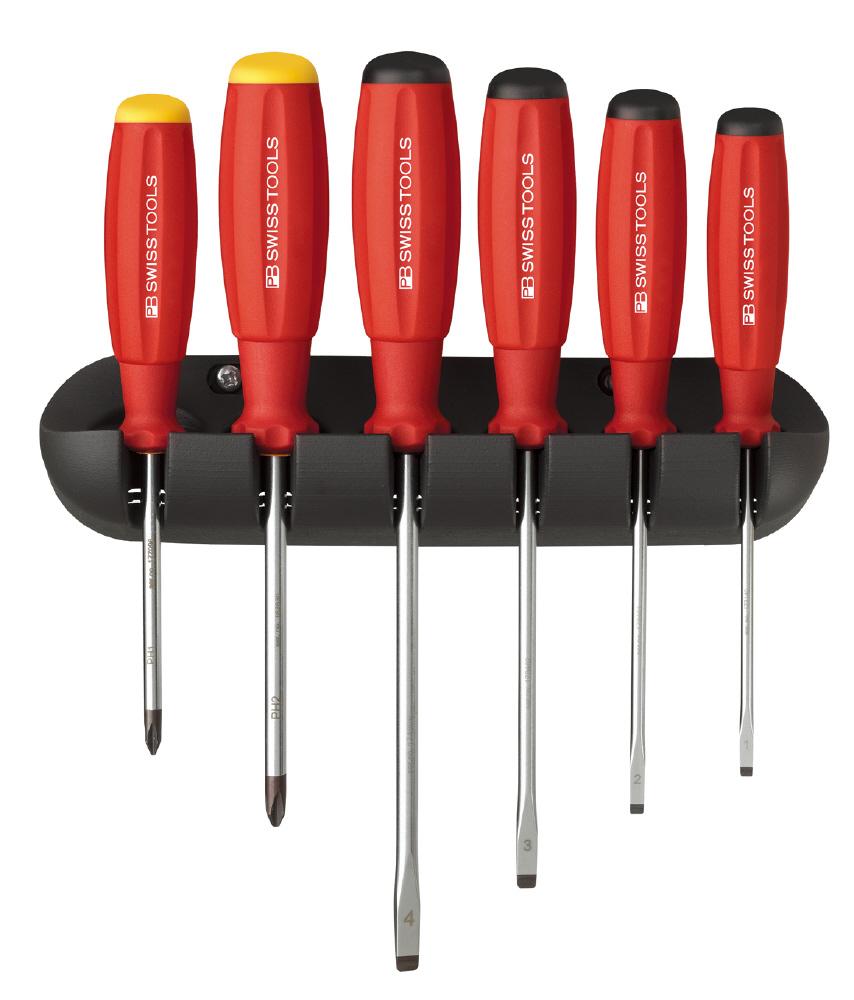 pb gripswiss screwdriver set with holder 8244. Black Bedroom Furniture Sets. Home Design Ideas