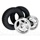 10-inches Aluminum Cast Wheel & Tire Front and Rear Set