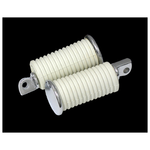 Neofactory OEM tipo Chrome End Rubber Footpeg blanco grande