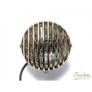 MOTOR ROCK [Psyclone] Brass Cast Bird Gauge Headlight