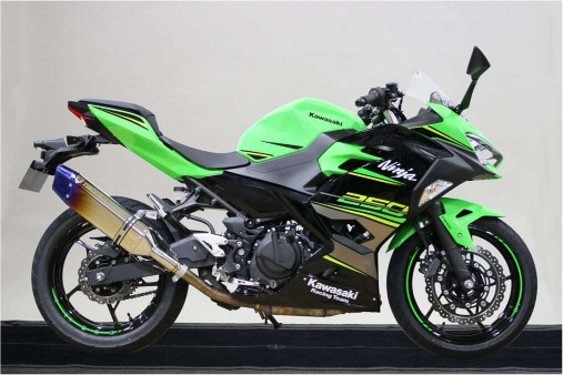 KAWASAKI Kawasaki Motors Japan x Trickster Slip-on Exhaust System IKAZUCHI Government Certification