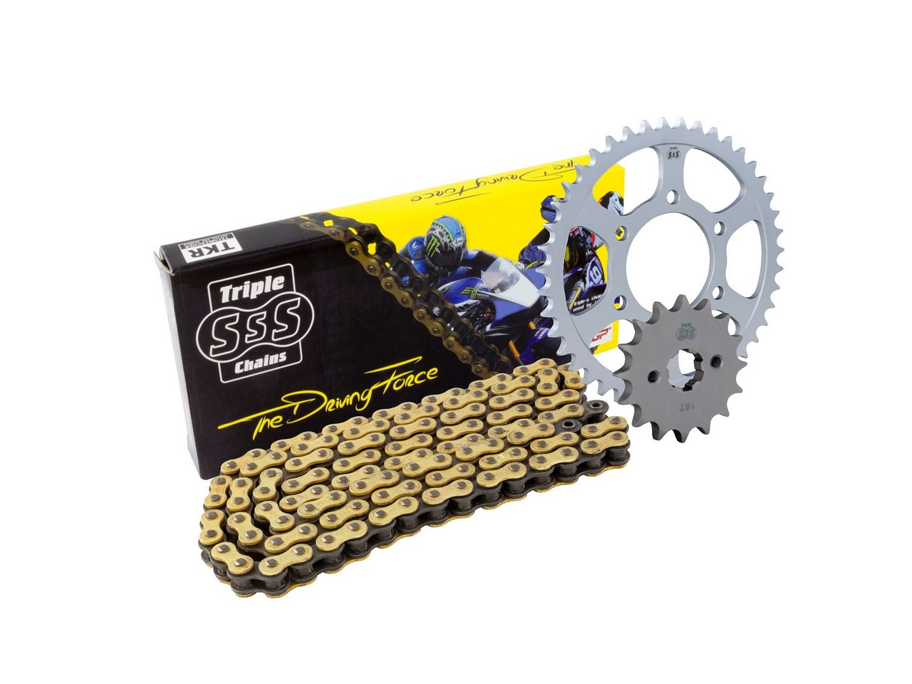 BIKE IT Kawasaki W800 11-16 Chain & Sprocket Kit: 15T Front, 37T Rear, HD O-Ring Gold Chain 520H 104Link
