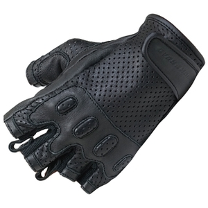 ROUGH&ROAD Punching Leather Half Finger Gloves DS