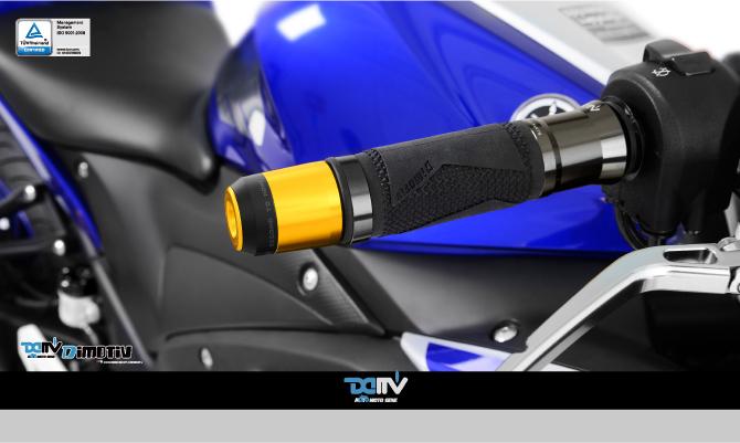 Bar Ends Pair Suzuki GSR 750 Black // Carbon Fibre 18mm ID