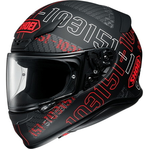 SHOEI Casco Z-7 (RF-1200) PERMUTATION [TC-1 ROJO/NEGRO MATE]