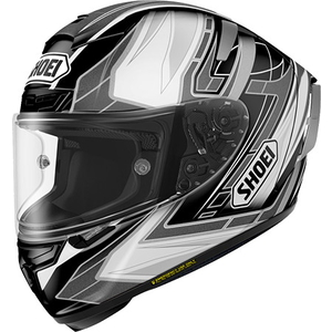 SHOEI X-14 ASSAIL [TC-5 Nero / Argento] Casco