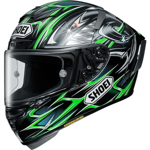 SHOEI X-14 YANAGAWA 5 TC-4 GREEN/BLACK Helmet